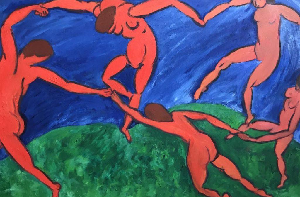 Peinture illustrant un cours de danse#danse#équilibre#santé#BienEtre#respiration#Genève